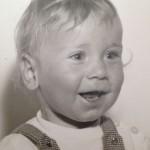 Peter Mehlem als lachendes kleines Kind