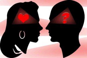 Verstand und Gefühl als Fragezeichen und Herz