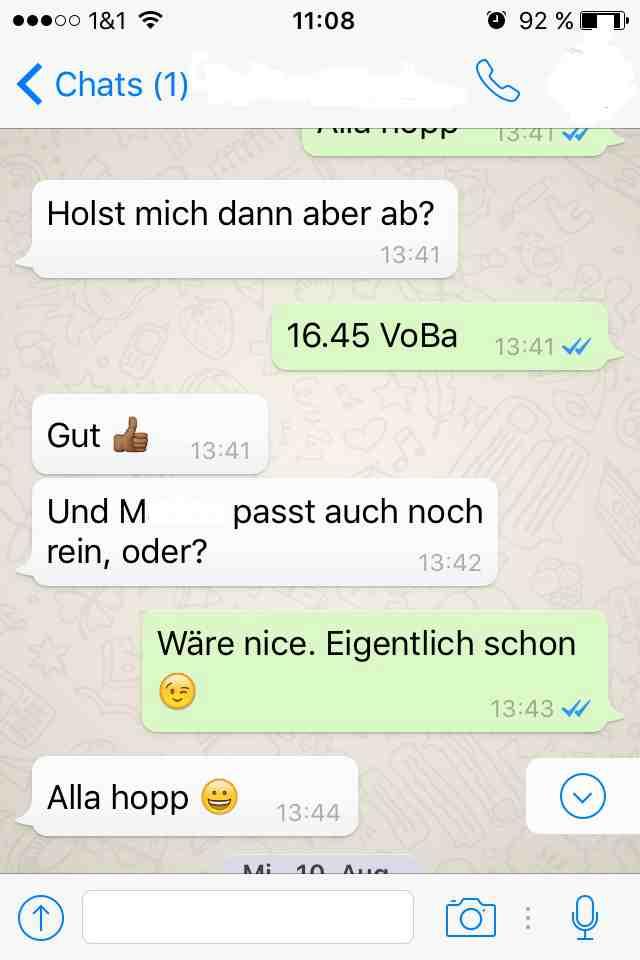 Eigentlich, WApp Dialog 2